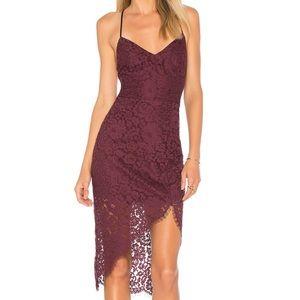 Lovers + Friends Merlot Skylight Lace Dress